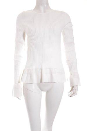 Diane von Furstenberg Pullover creme Streifenmuster Romantik-Look