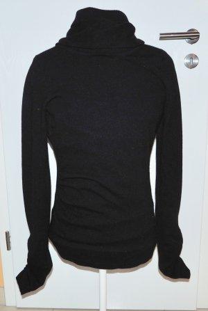 Diane von Furstenberg Pullover Kaschmir S 36 Rollkragen schwarz