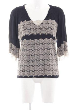 Diane von Furstenberg Schlupf-Bluse schwarz-wollweiß Mustermix Casual-Look