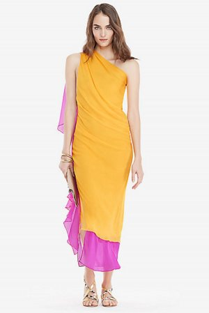 Diane Von Furstenberg Seidenchiffon Kleid NEU mit etikett DE 38