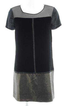Diane von Furstenberg Shirtkleid schwarz-goldfarben Elegant