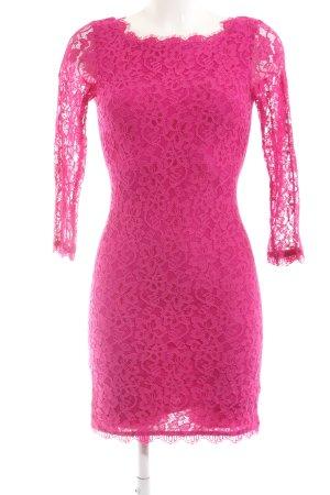 Diane von Furstenberg Spitzenkleid pink Elegant