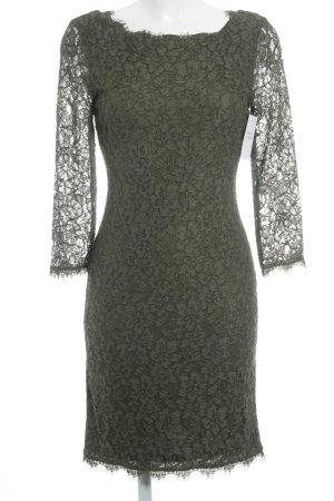 Diane von Furstenberg Spitzenkleid olivgrün Elegant
