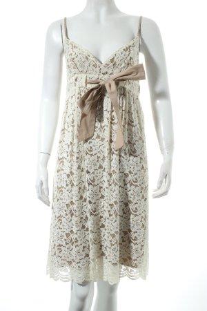 Diane von Furstenberg Spitzenkleid wollweiß-hellbeige Romantik-Look