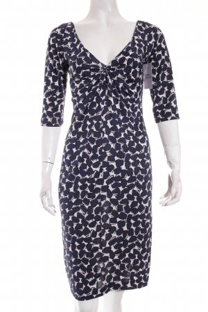 Diane von Furstenberg Stretchkleid weiß-dunkelblau Street-Fashion-Look