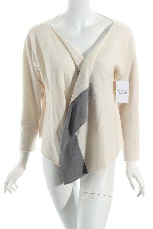 Diane von Furstenberg Strickjacke wollweiß-grau klassischer Stil