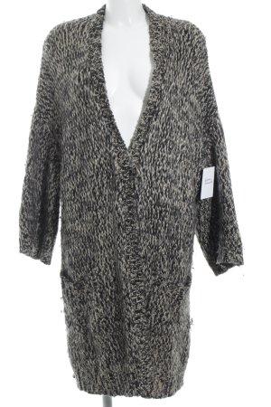 Diane von Furstenberg Cappotto a maglia nero-marrone chiaro soffice
