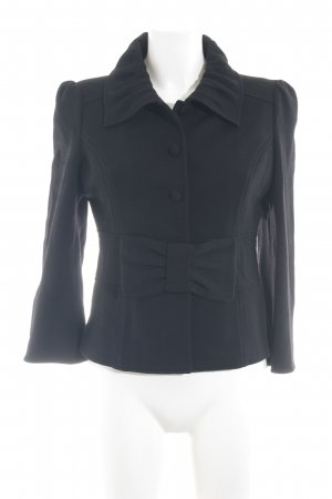 Diane von Furstenberg Blazer de tela de sudadera negro elegante