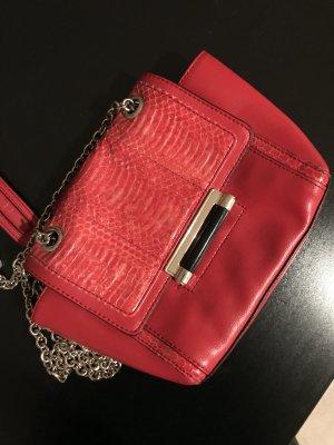Diane von Furstenberg Tasche Schlangenlederoptik rot