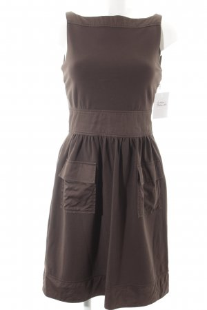 Diane von Furstenberg Pinafore dress dark brown simple style