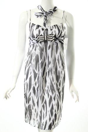 Diane von Furstenberg Trägerkleid weiß-schwarz abstraktes Muster
