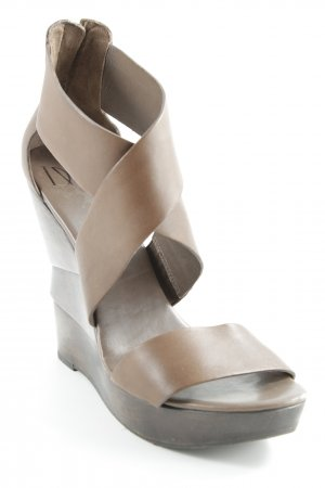 Diane von Furstenberg Wedges Sandaletten braun Party-Look