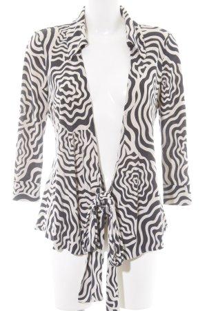 Diane von Furstenberg Wraparound Blouse black-white allover print casual look