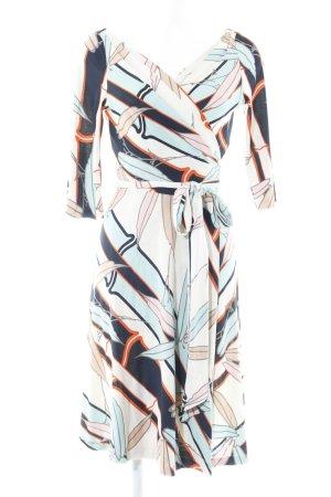Diane von Furstenberg Wickelkleid abstrakter Druck 50ies-Stil