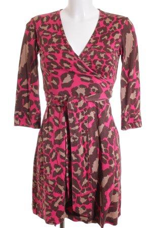 Diane von Furstenberg Robe portefeuille motif abstrait style décontracté