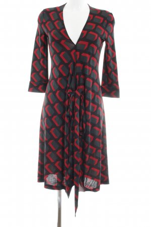 Diane von Furstenberg Robe portefeuille motif abstrait Aspect enroulé