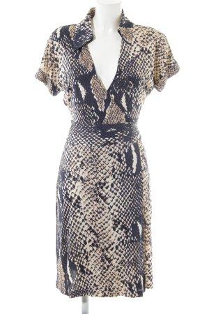 Diane von Furstenberg Vestido cruzado estampado de animales elegante