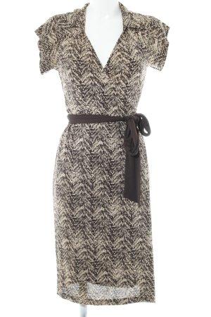 Diane von Furstenberg Vestido cruzado beige-marrón oscuro estilo extravagante