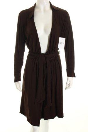 Diane von Furstenberg Wickelkleid dunkelbraun Casual-Look