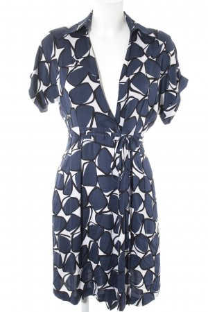 Diane von Furstenberg Wickelkleid grafisches Muster Business-Look