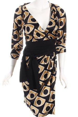 Diane von Furstenberg Wickelkleid grafisches Muster Business-Look