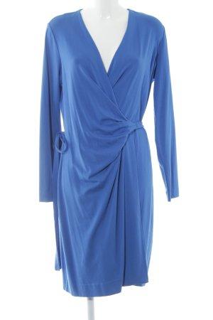 Diane von Furstenberg Wickelkleid neonblau Wickel-Look