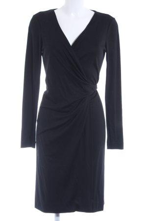 Diane von Furstenberg Vestido cruzado negro elegante