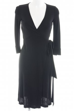 Diane von Furstenberg Vestido cruzado negro estilo sencillo