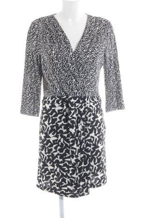 Diane von Furstenberg Wickelkleid schwarz-weiß abstraktes Muster Animal-Look