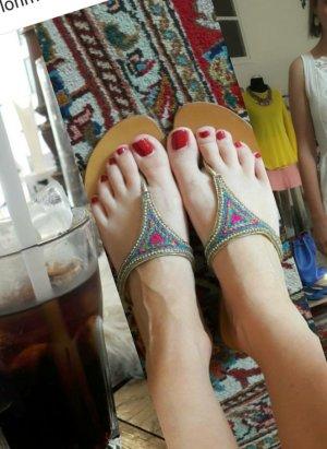 Star mela Sandals gold-colored-pink