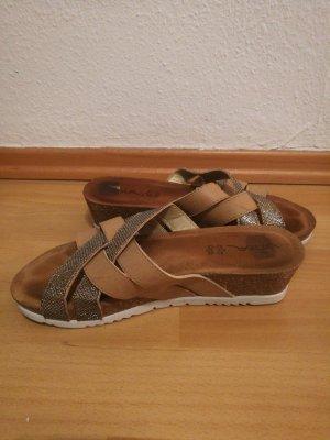 Vista Dianette sandalen zilver-bruin