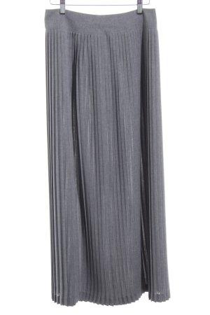 Dibari Plooirok grijs-lichtgrijs gestippeld zakelijke stijl