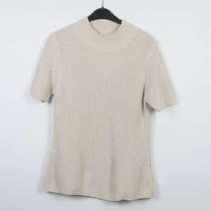 Dibari Short Sleeve Sweater gold-colored cotton