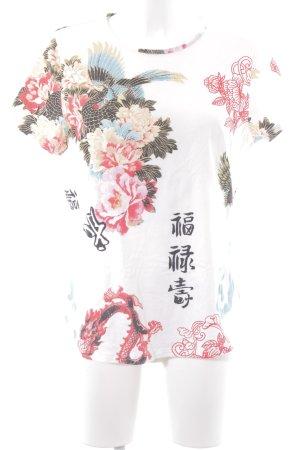 Dibari T-Shirt Blumenmuster Romantik-Look