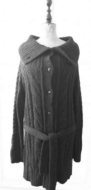 Marc O'Polo Coarse Knitted Jacket anthracite mixture fibre