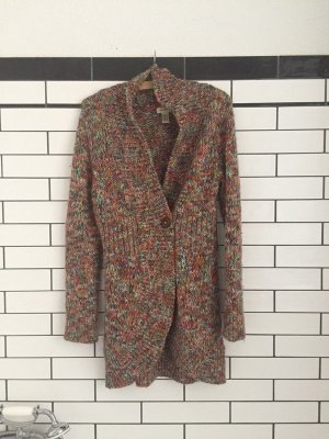 Anthropologie Coarse Knitted Jacket multicolored
