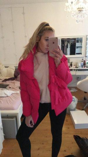 Dicke Daunenjacke Pink