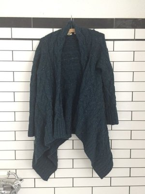 Anthropologie Coarse Knitted Jacket petrol