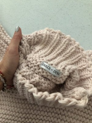 Coarse Knitted Sweater rose-gold-coloured