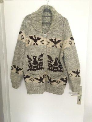 Chaqueta de lana blanco puro-taupe