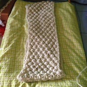 Bufanda tubo crema Algodón