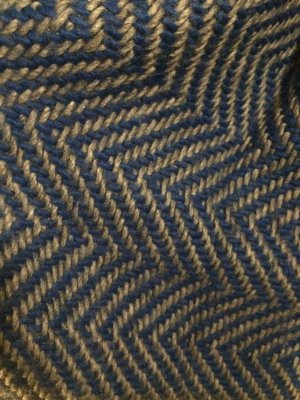 dicker, lana-wool Winterschal in blau/grau *warm*