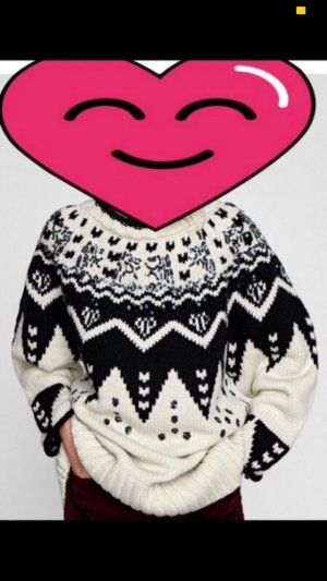 Zara Norwegian Sweater multicolored wool