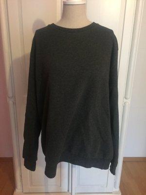 Dicker warmer gefütterter Pullover grau Boyfriend oversized