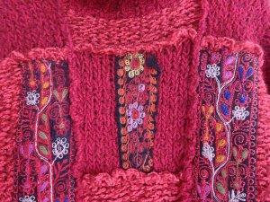 Pull-over à col roulé multicolore laine