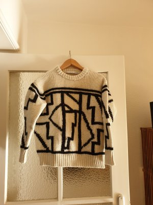 & other stories Wool Sweater black-natural white