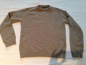 Aigle Wollen trui grijs-bruin