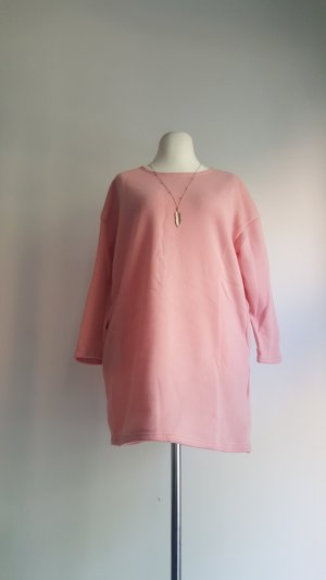 Shirt Dress neon pink polyester