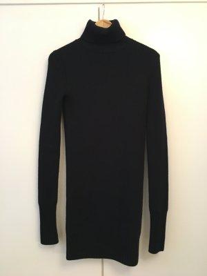 Zara Woman Vestido de lana azul oscuro Lana