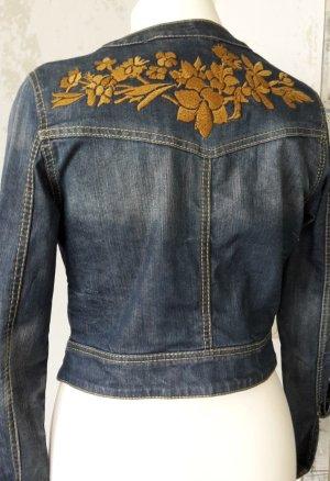 DIDI Jeansjacke Jeans-Bolero m. Stickerei hinten Passend f. Gr. 36 - Fast NEU